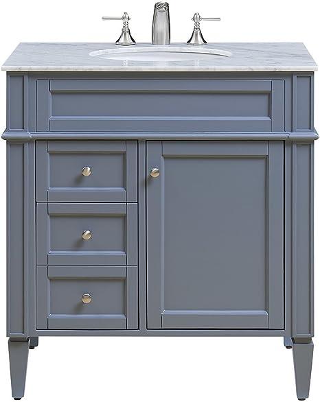 Amazon Com Elegant Decor Vf 1025 Single Bathroom Vanity Set 32 Grey Vf 1025 Home Kitchen