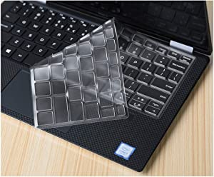Compatible for DELL XPS 13 9343 9360 9350 9365 9370 9380 13.3 Inch/XPS 15 9570 Keyboard Cover Clear TPU Laptop Keyboard Protector Skin,XPS 13 9365