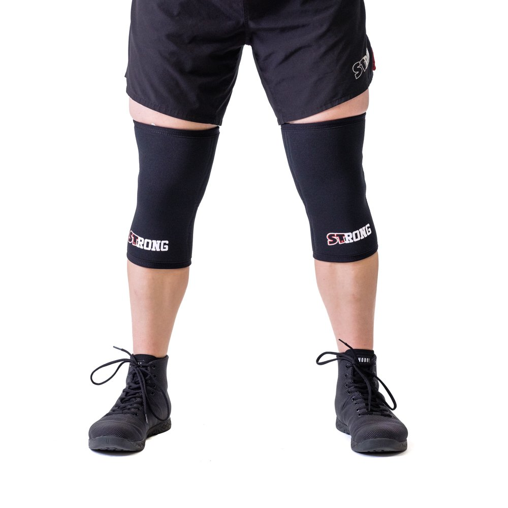 Sling Shot Mark Bell Strong Knee Sleeves, Black, L by Sling Shot