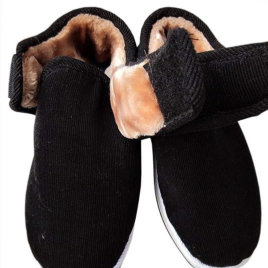 uirend Scarpe Pantofole Uomo - Uomo vestibilità Larga Completamente Scarpe  con Chiusura Pantofola Foderato di Pelliccia  Amazon.it  Scarpe e borse 5341ffd4dfe