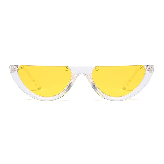 2979e3dff6e9 RazMaz Girl's Cat Eye Retro Clout Half Frame Kurt Cobain Sunglasses  (Yellow): Amazon.in: Clothing & Accessories