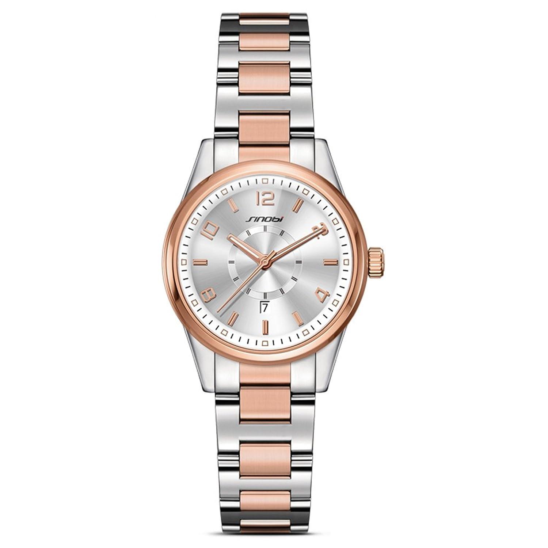 2017 Sheli Watchesレディースブランド2トーンクォーツステンレススチール腕時計Relogio Feminino B06ZYVD1K3
