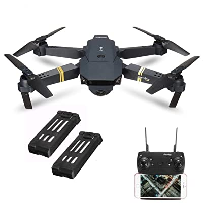 Drone X Pro Xtreme WiFi FPV Quadcopter with 120/° Wide-Angle 720P HD Camera Foldable Drone RTF 3D Flip Drone with Camera Live Video Altitude Hold One Key Take Off//Land APP Control(2Pcs Batteries)