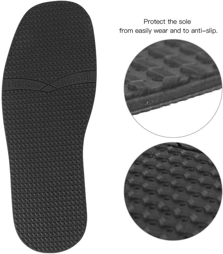Semelles de r/éparation pour Chaussures en Cuir Semelles /à Grain sur/élev/é Blanc Chaussures r/ésistantes /à lusure HEEPDD Une Paire de Chaussures en Cuir en Caoutchouc Naturel antid/érapantes