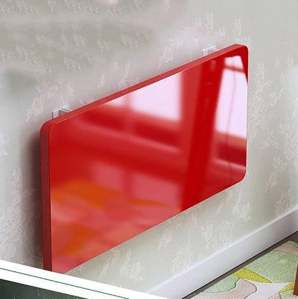 壁に取り付けられた机の壁テーブルダイニングテーブルの壁テーブル壁掛けコンピューターデスク折りたたみテーブルをペイント(色:赤、サイズ:70 * 40 cm)