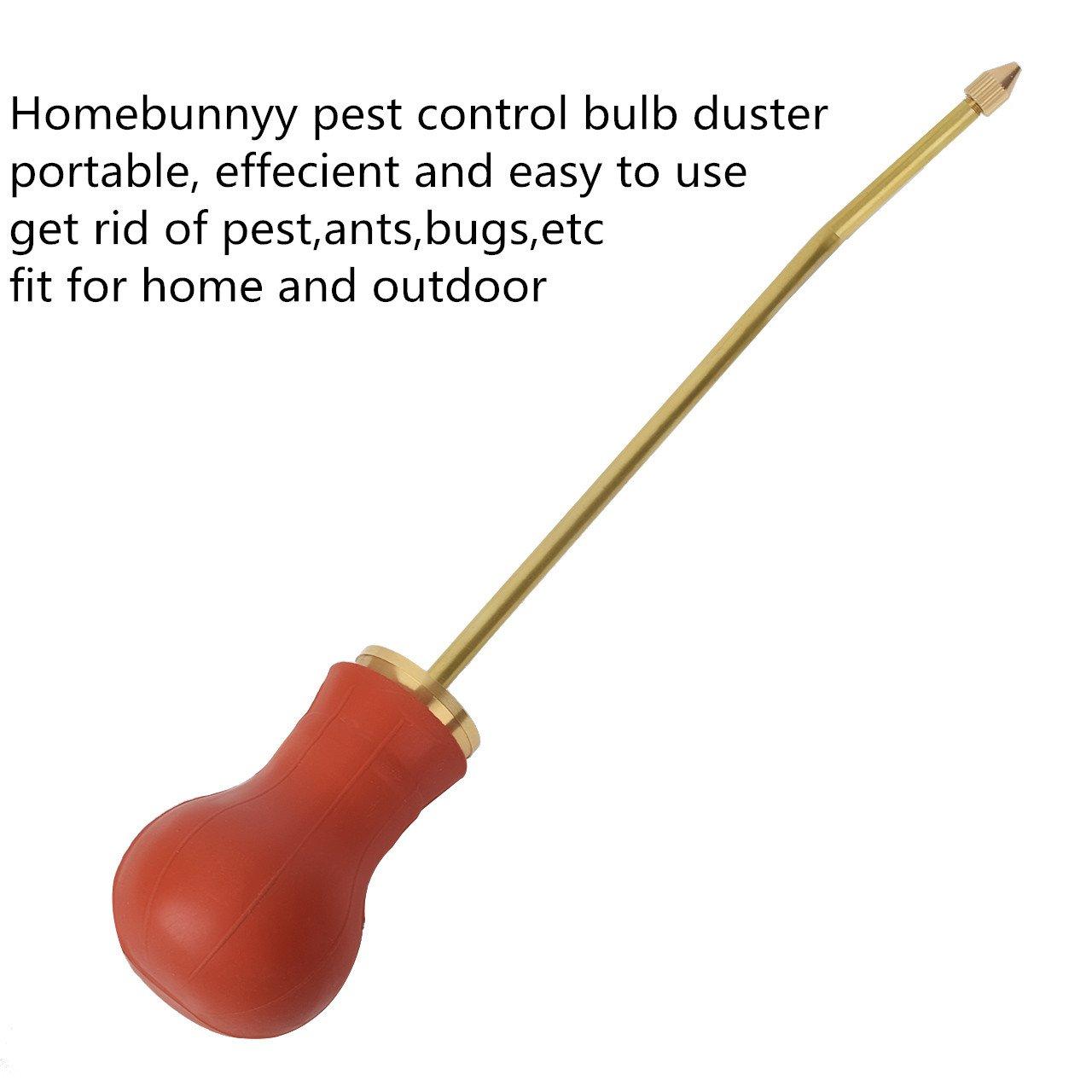 Homebunnyy Control de Plagas Insectos Plumero Bombilla Plumero Bulbo Dispensador de Insecticida Pulverizador de Plaguicidas: Amazon.es: Hogar