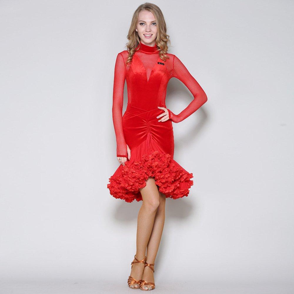 正式的 モダンな女性大きな振り子ベルベットモダンダンスドレスタンゴとワルツダンスドレスダンスコンペティションスカートドレス長袖ネット糸ダンスコスチューム Red B07HHX4RRY XL|Red Red XL|Red B07HHX4RRY XL, ひな福かぐ福:8fc02af4 --- a0267596.xsph.ru