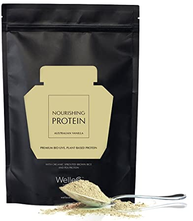 WelleCo – All Natural Vegan Nourishing Plant Based Protein Supplement Vanilla 300g Refill Pack