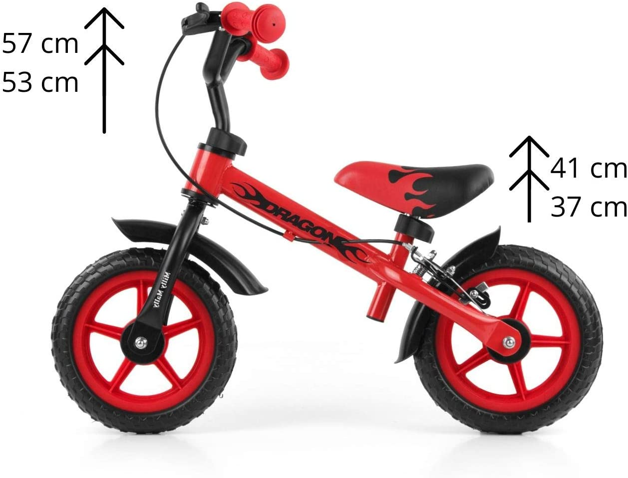 Milly Mally Dragon Braked Balance Bike: Amazon.es: Juguetes y juegos
