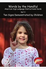 American Sign Language/ Baby Sign Language Cards - Ten Signs Demonstrated By Children. Set 3 Cards