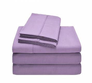 Bed Sheet Set(Cal King,Lavender)   1800 Series Platinum Collection   100