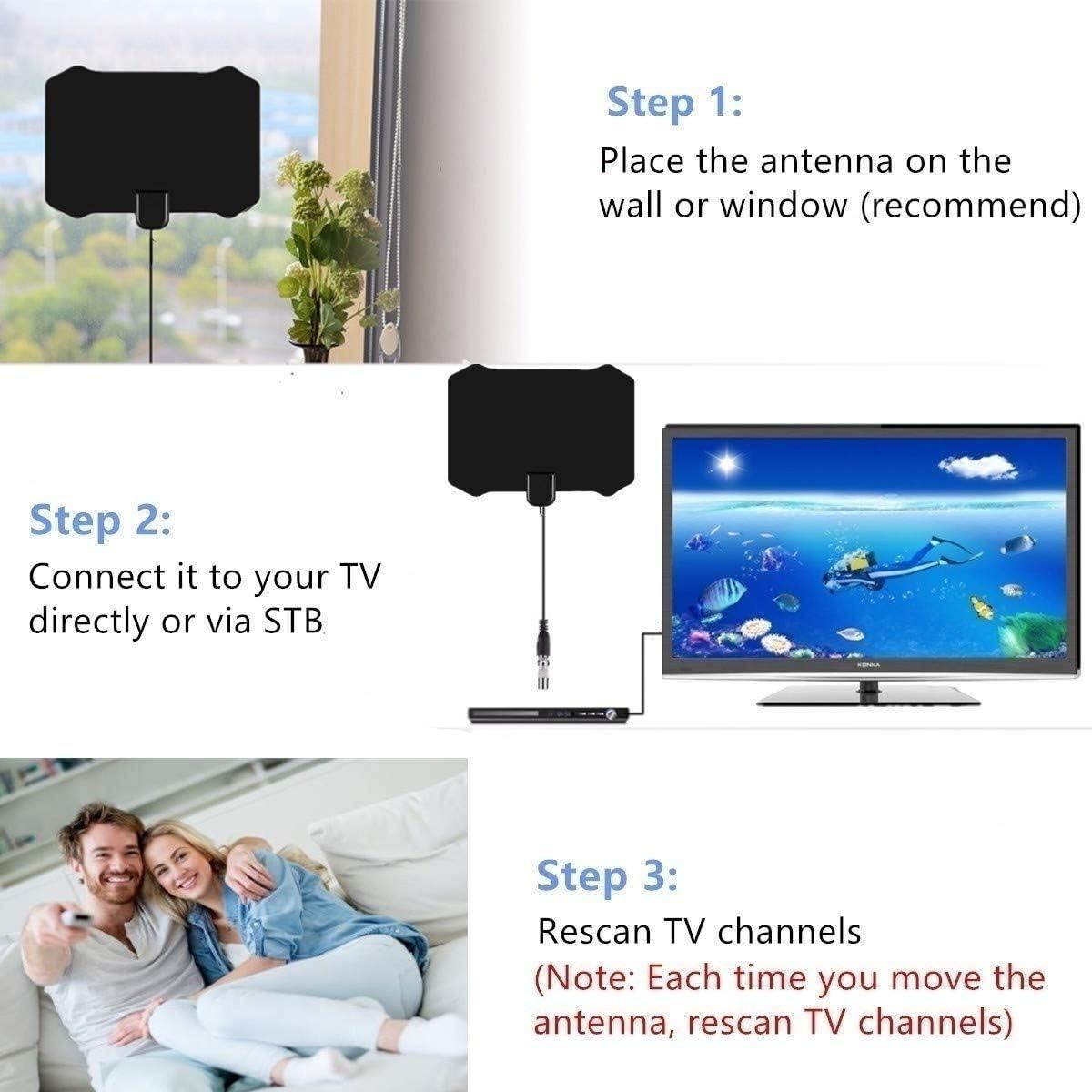 Newest 2020] Antena HDTV-4K Antena HD TV Digital Fox Surf Antenas ...