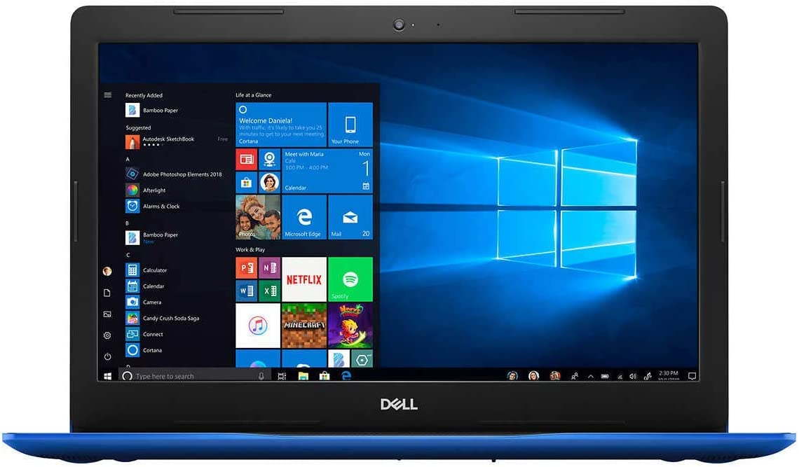 "Dell Inspiron 15 i3593-5551BLU-PUS 15.6"" Touchscreen i5-1035G1 12GB DDR4, 512GB NVMe SSD, WiFi Windows 10 Blue (Renewed)"