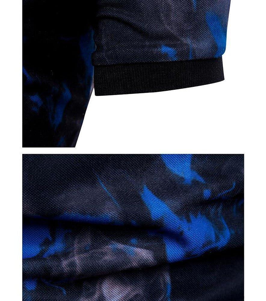 Huateng Ropa Informal para Hombres - Polo Estampado de Manga Corta con  Estampado de Llamas y Manga Corta para Hombre  Amazon.es  Ropa y accesorios 973c2e965758