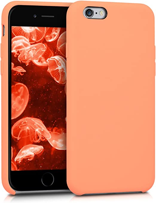kwmobile TPU Silicone Case for Apple iPhone 6 / 6S - Case Slim Protective Phone Cover with Soft Finish - Coral