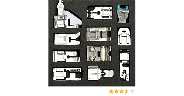 ... Machine Presser Foot Feet For Brother Singer Janome // 11pcs máquina de coser doméstica universal presser pies del pie para cantante del hermano janome