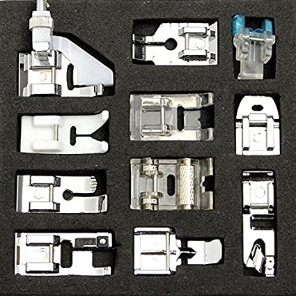 [Free Shipping] 11pcs Universal Household Sewing Machine Presser Foot Feet For Brother Singer Janome