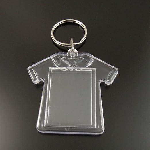 Amazon.com: King&Pig - Llaveros con marco transparente para ...