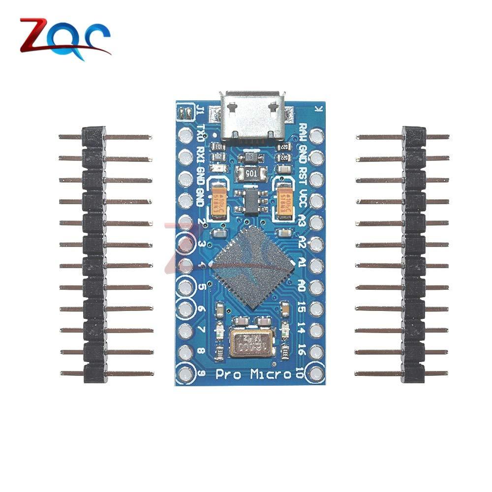 HUIMAI ATmega32U4 5V//16MHz Module New Pro Micro for arduino with 2 row pin header For Leonardo in stock