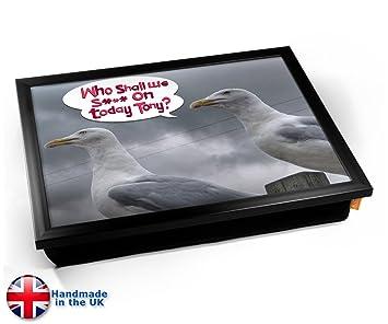 Amazon.com: KICO Gaviota divertido pájaro cojín bandeja de ...