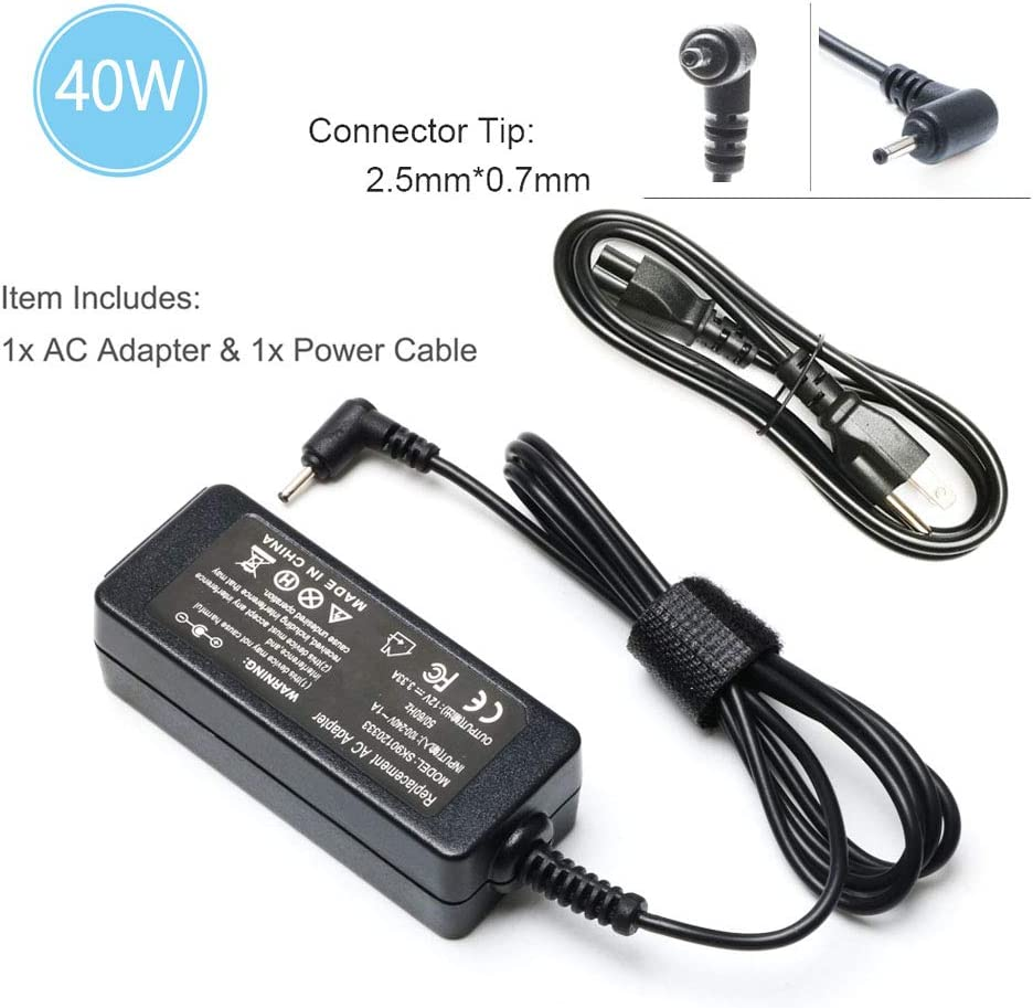 40W 12V 3.33A Ac Adapter Laptop Charger for Samsung 11.6