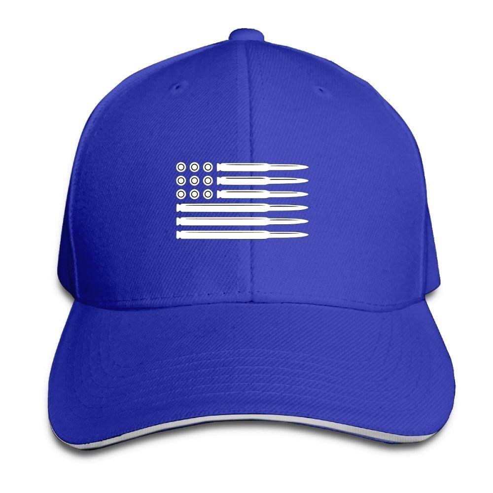 BUSEOTR Bullet American Flag Baseball Caps Adjustable Back Strap Flat Hat