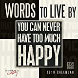 Words to Live By - Primitives by Kathy 2019 Wall Calendar, 12 x 12, (CA-0436)