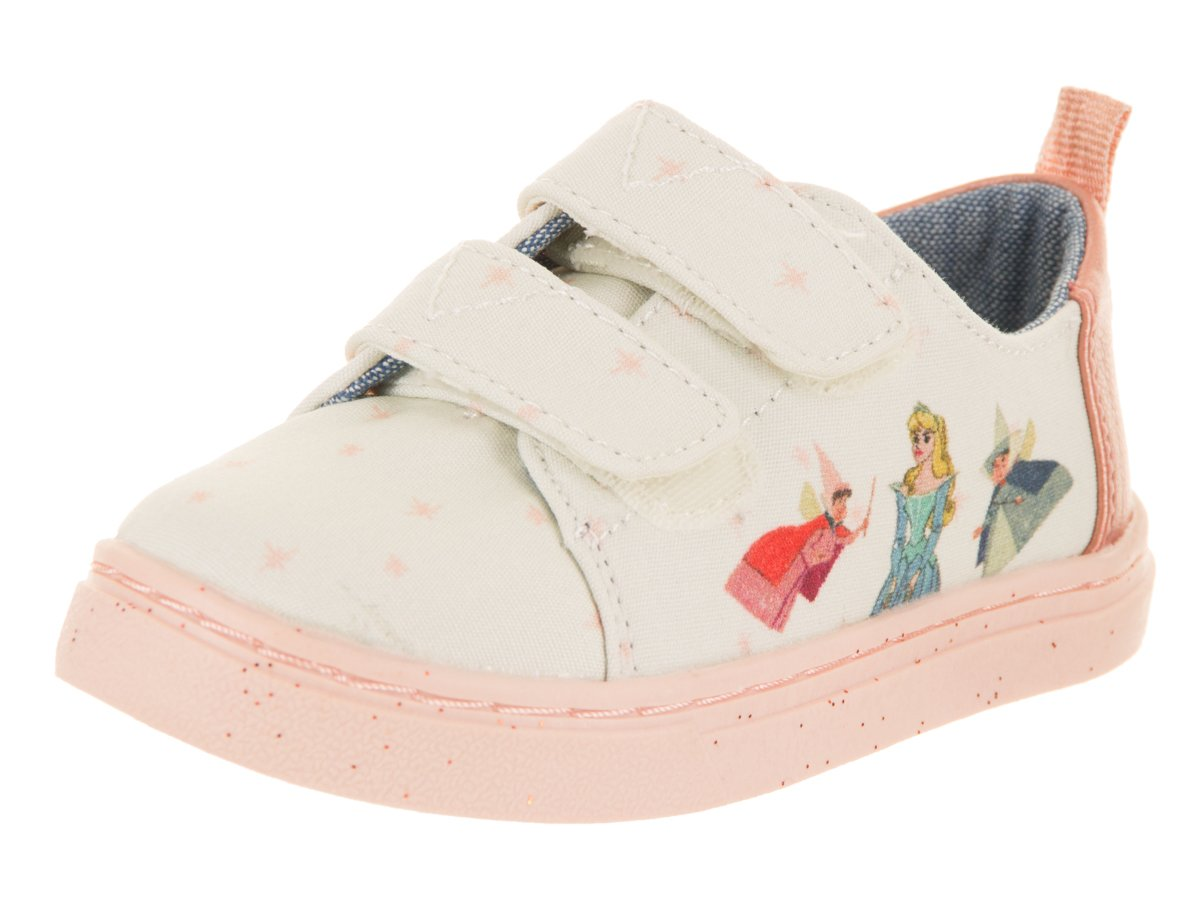 TOMS Tiny Lenny Cotton Sneaker Pink Fairy Godmother (7 M US Toddler)