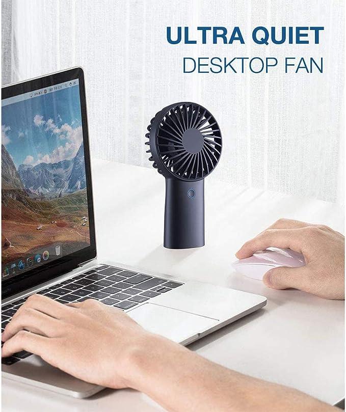 ZLZNX USB Ventilador de Mano Ventilador Portátil de 4000 mAh