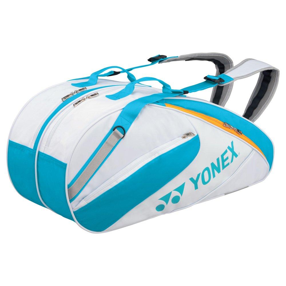 YONEX(ヨネックス)【BAG1732R】ラケットバッグ6 リュック付 テニス6本用 B06Y1NLFSH  725(ホワイト×Oブルー) F