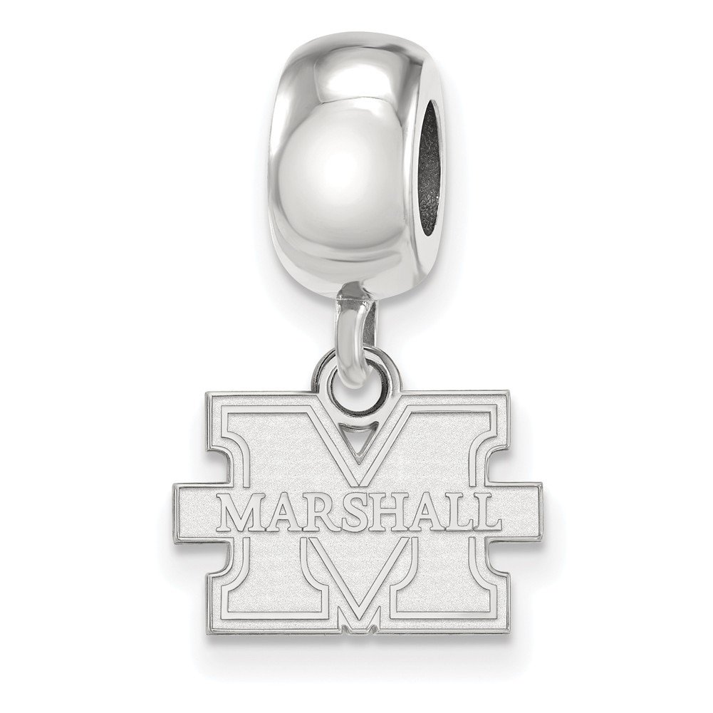 Lex /& Lu LogoArt Sterling Silver Logo Art Marshall University Bead Charm XS Dangle