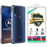 "Kit Capa E Película Para Motorola Moto One Vision Tela De 6.3"" Polegadas Capinha Case Transparente Air Anti Impacto e Película De Vidro Temperado - Danet"