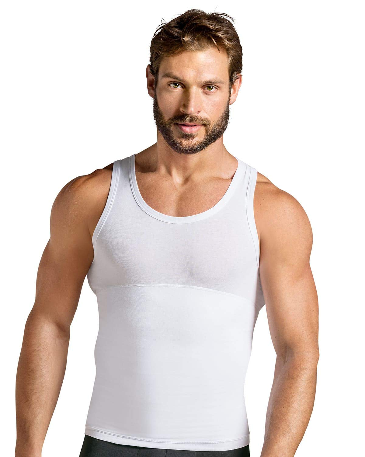 Leo Men's Slimming Abs Toning Firm Compression Tank Shaper Leonisa 035013