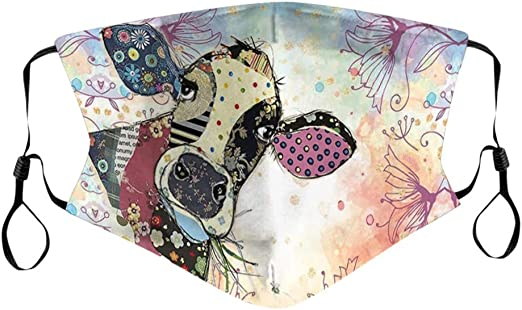 wiederverwendbar Lomelomme 10 St/ück Bandana Waschbar Mundschutz Herren Damen Sommer Atmungsaktiv Sport Halstuch Bunt Lustig 3D Drucken Earloop-Schal