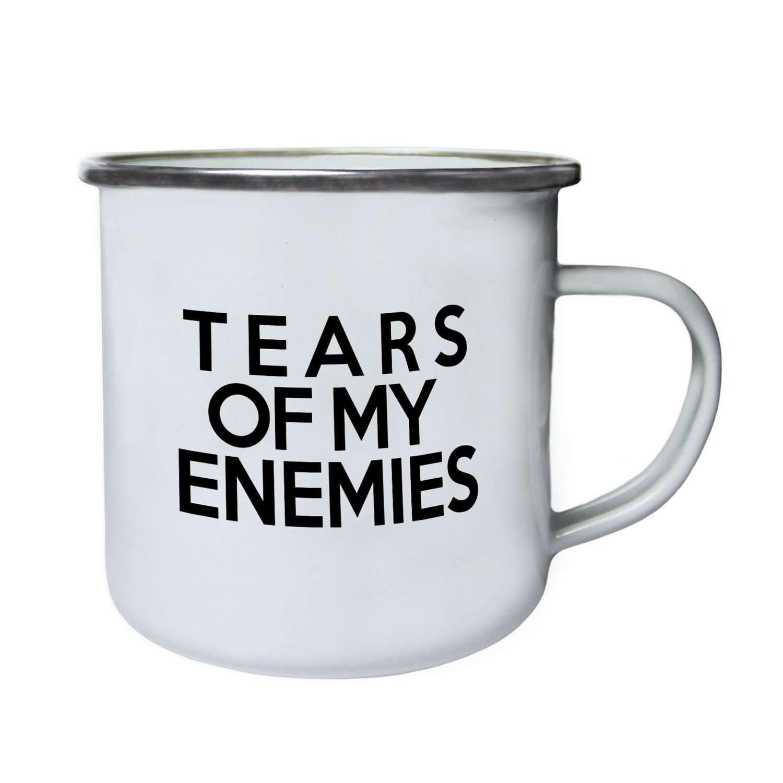 私の敵の涙Perfectギフトノベルティ新しいレトロ、Tin、エナメル10ozマグb50e B06XHQV8BS