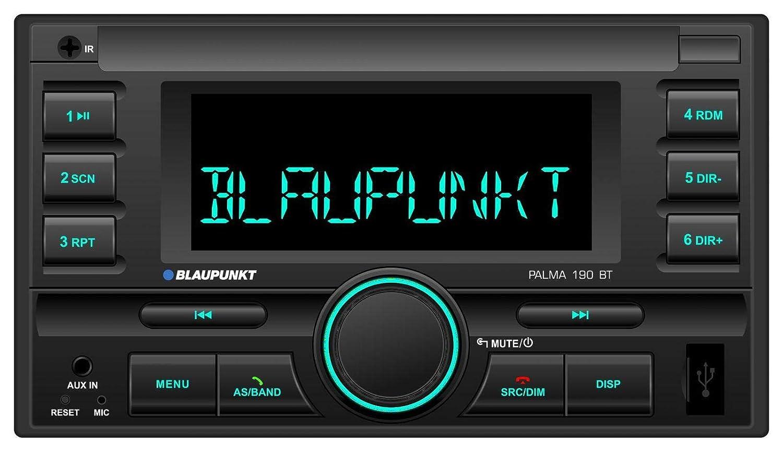caraudio24 Blaupunkt Palma 190 BT MP3 USB 2DIN Bluetooth AUX Autoradio f/ür FIAT Ducato Citroen Jumper Peugeot Boxer 06-11 ISO