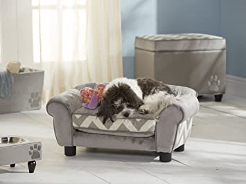Dog Sofa   Cuddling Paradise Dog Bed In Beige With Storage Bag At The Back  And