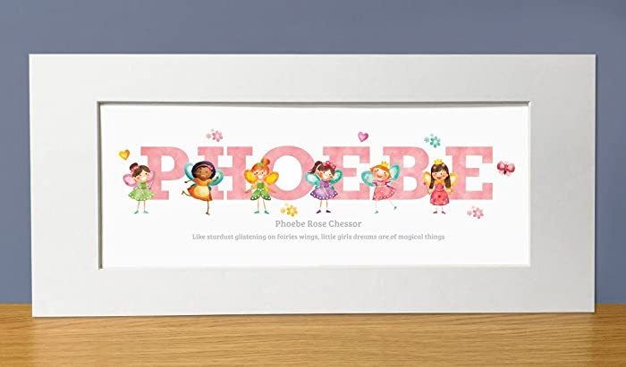 Fairy adventures personalised name print name gifts baby gifts fairy adventures personalised name print name gifts baby gifts christening gifts from frame negle Images