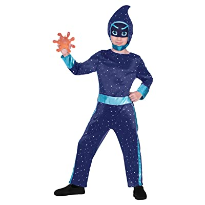Boys Official PJ Masks Night Ninja Disney TV Show Character Villain Anti Hero Fancy Dress Costume Outfit: Clothing