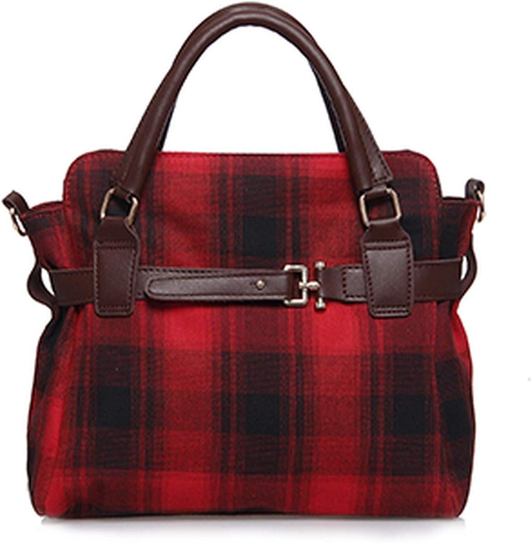 Christmas gifts Wool Shoulder Bag Luxury Handbags Women Bags Ladies Hand Bags Big Plaid Casual Tote Winter