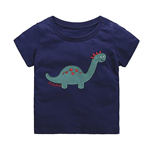 1f5f85b43 Amazon.com: Tem Doger Toddler Kids Baby Boys Cartoon Short Sleeve ...