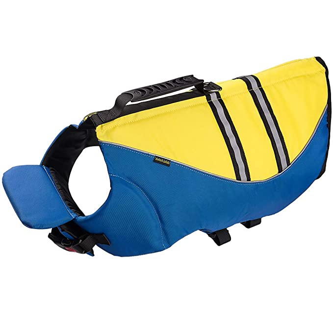 EXPAWLORER Dog Life Jacket Pet Float Coat Vest Outdoor Swimming with Extra Padding M best dog life vests