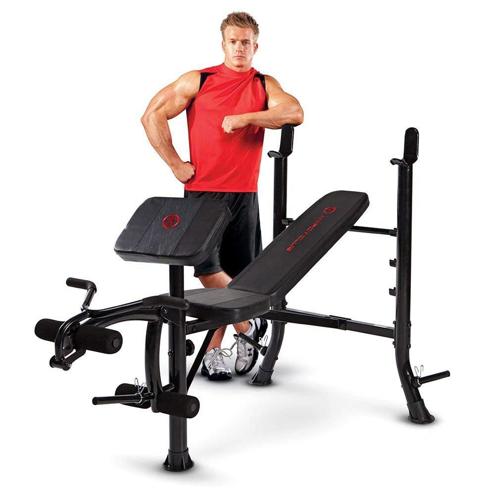Marcy Standard Bench, Black/Black , OS by Marcy