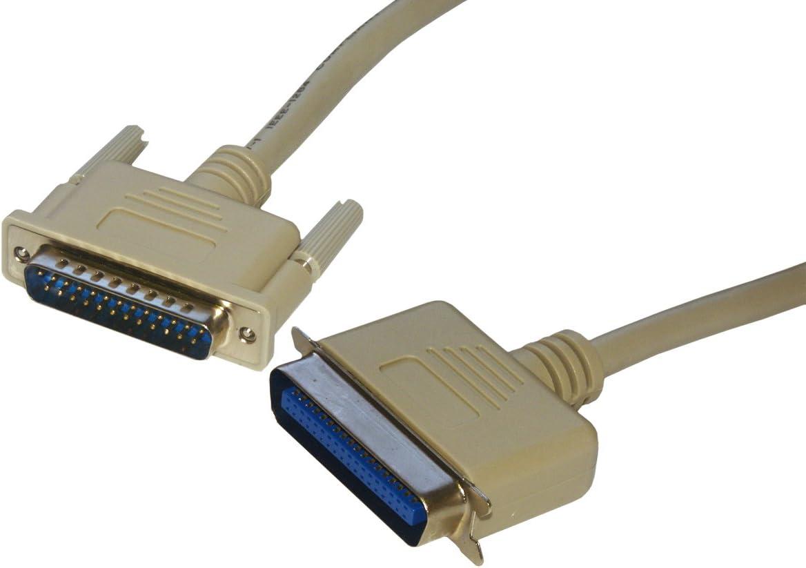 MCL - Cable para impresora (conector DB25 macho a conector ...