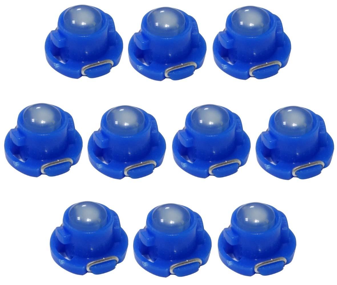 AERZETIX 10x Bombillas T4.7 LED 12V luz color azul para salpicadero C13834