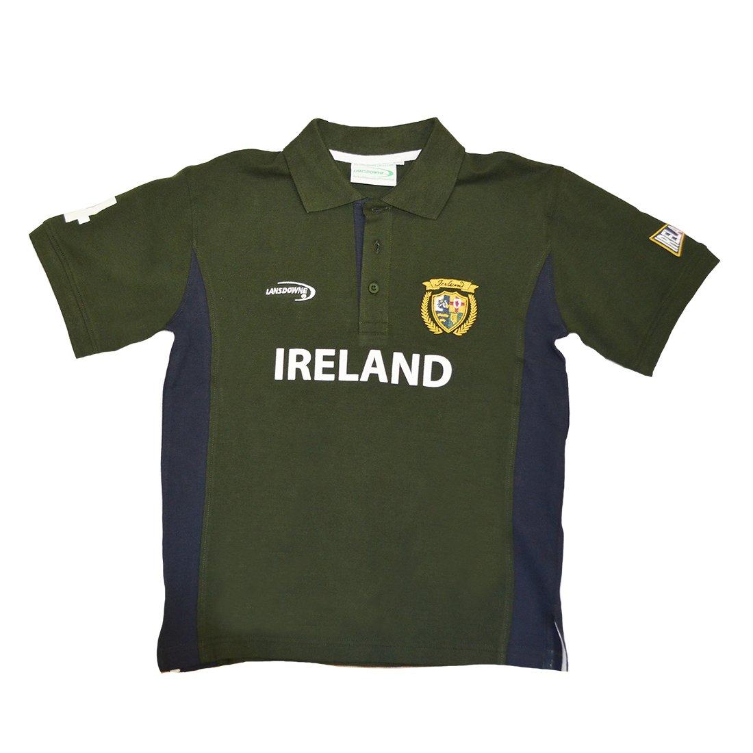Amazon Lansdowne Green And Navy Ireland Kids Polo Shirt Clothing
