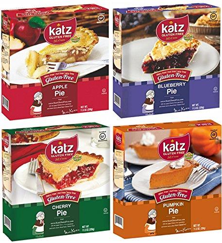 Katz Gluten Free Pie Variety Pack, 1 Apple Pie, 1 Blueberry Pie, 1 Cherry Pie, 1 Pumpkin Pie