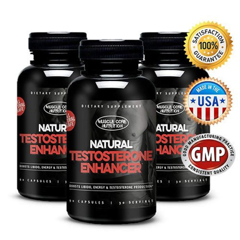 Top Rated Testosterone Booster Supplement *Muscle Core Nutrition* Increased Energy, Muscle Growth & Fat Loss All Natural *Made in the USA* 90 Count 100% MONEY BACK GUARANTEE by Z Products