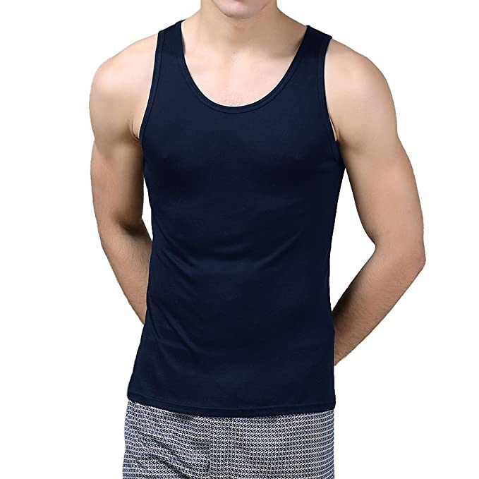 facd639bb Paradise Silk Paraíso Seda Pura Seda Tejido para Hombre Camiseta de  Tirantes Solid US S M L  Amazon.es  Ropa y accesorios