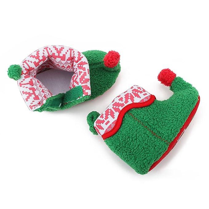 Itaar bebé botas para bebé Navidad elfo cuna zapatos invierno Nieve Patucos suave y cálida verde verde Talla:12-18 meses: Amazon.es: Bebé